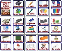 Free Printable French Vocabulary Cards Posters Things You Would Find In A Classroom Display Or As Flashcards
