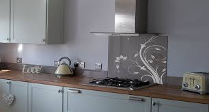 Glass Splashback Kitchen Blue Egg Patterned Splashbacks