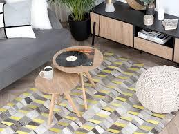 teppich beloren grau gelb 140x200 cm ch