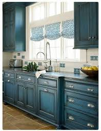 Blue Kitchen Paint Diy