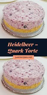 heidelbeer quark torte kuchen rezepte einfach kuchen