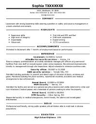 Police Officer Resume Example Lovely Ideas Coll Design Inspiration Property Security Of