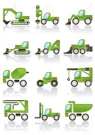 Building Vehicles Icons Set Illustration Royalty Free Cliparts ...