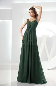 hunter green casual empire zipper chiffon floor length ruching