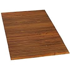 amazon com seateak 60022 teak shower or door mat oiled finish