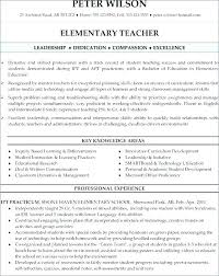 Elementary Teacher Resume Examples 2014 Plus Sample Teaching To Make Astounding Skills And Abilities 614