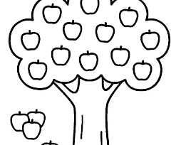 Printable Fruit Coloring Pages Free Apple Green For Kindergarten D