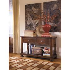 Traditional Dark Brown Norcastle Sofa Table by Signature Design By Ashley Porter Console Table Walmart Com