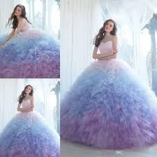 2017 ombre ball gown quinceanera dresses sweetheart neckline prom