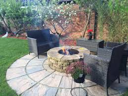 Camberley Firepit Rustic Garden By Lithic Fire