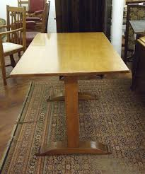 An Oak Arts Crafts Dining Table Attributed To Heals
