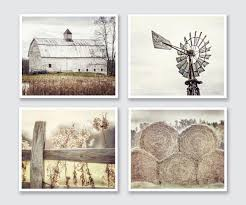 Farmhouse Decor Rustic Country Set Of 4 Modern