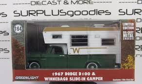 1967 Dodge D-100 Winnebago Slide-in Camper Hobby Greenlight Diecast ... Four Wheel Popup Truck Camper Walkthrough Hawk Exterior Youtube Ute How To Create A Slideon Camper For Your Pickup Truck 1969 Dodge Avion Vintage Classic Campers Jeffs Shed Null Adventurer Model 80rb Slide In For Small Pickup Trucks Best Resource Diy Ranger Pickup Camper Part 1 Rally Of Slidein Campers On The Trucks Ovlandcampers Earthcruiser Express Xps Ute Guide
