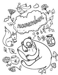 November Coloring Pages Free To Print