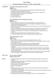 100 Education On A Resume Higher Samples Velvet Jobs