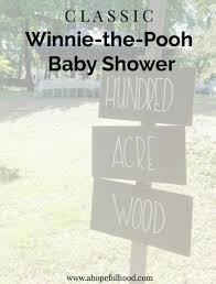Winnie The Pooh Baby Shower classic winnie the pooh baby shower a hopeful hood