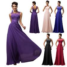grace karin long chiffon wedding evening formal party gown prom