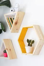 diy shape shelves because rectangular shelves are sooooooo boring