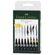 Michaels Canada Art Desk by Faber Castell Pitt 8 Artist Pens Black