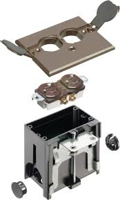 Hubbell Floor Box Cover Plates by Arlington Flbaf101br 1 Adjustable Floor Box Kit With Outlet And