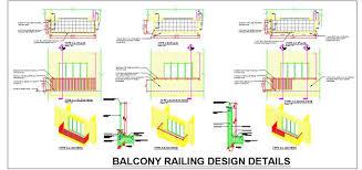 Balcony Railing Detail DWG