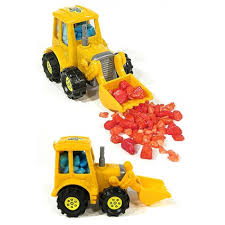 100 Loader Truck Bubble Yellow Pull Back Car Toy With Candy