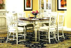 Off White Dining Table Room Furniture 7 Piece Oval Leg Sets With China Cabinet