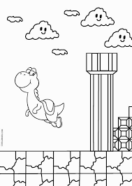 Paper Mario Yoshi Coloring Pages