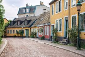 100 Homes In Sweden Street Of Colorful Old Homes In University Town Of Lund