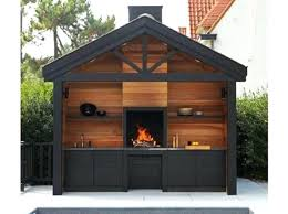 cuisine ete bois cuisine d ete en bois cuisine exterieur bois universal metal