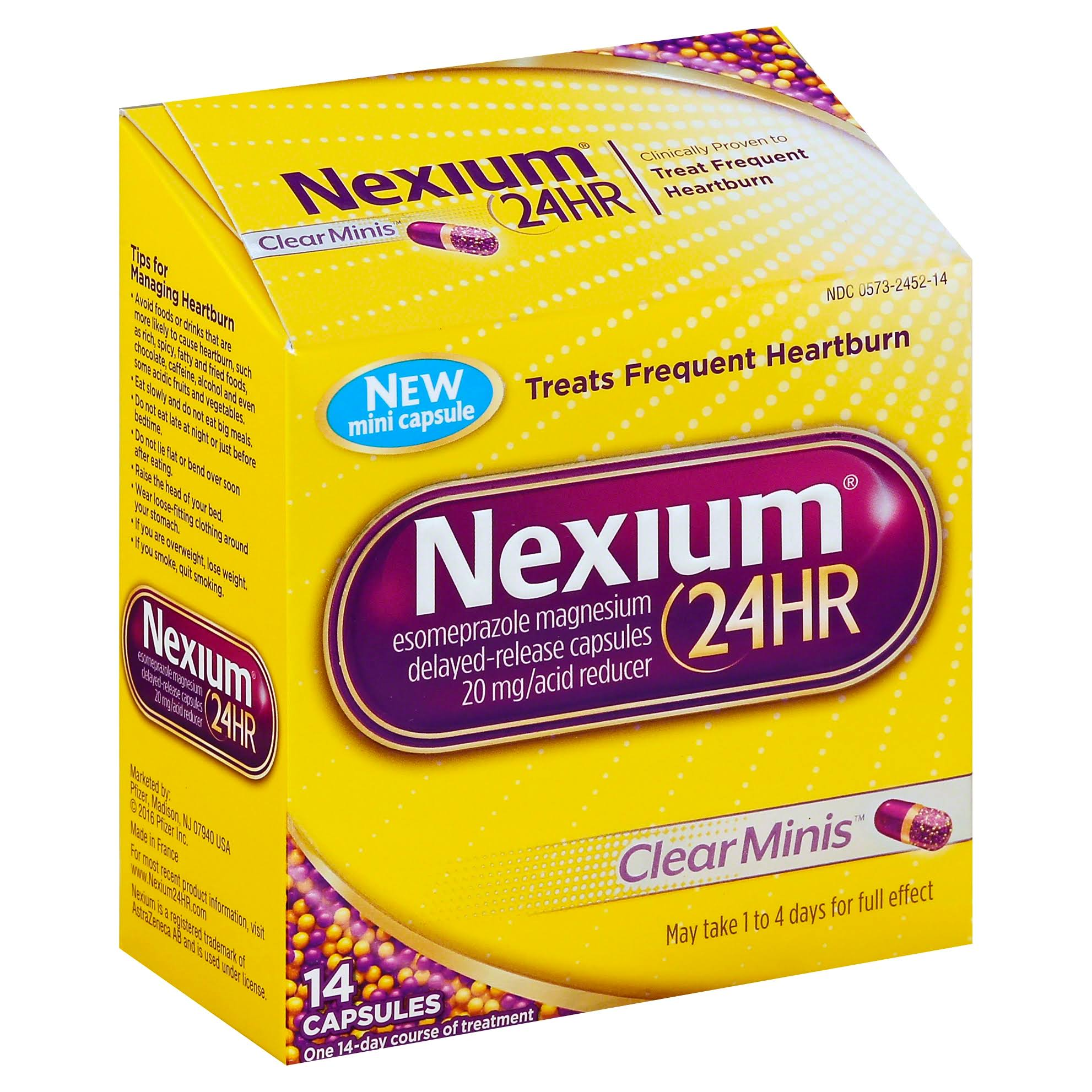 Nexium 24hr Clear Minis Acid Reducers - 14 Capsules, 20mg