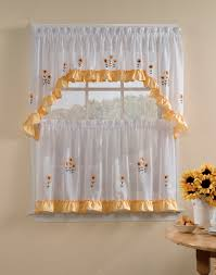 Yellow And Gray Kitchen Curtains by White Kitchen Curtains And Valances U2014 Home Design Ideas How To