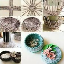 DIY Covered Woven Basket From Newspaper By Margret