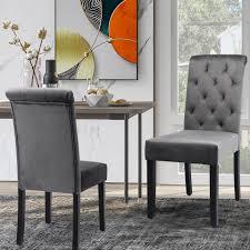 gotui 4 fußstuhl 2er set esszimmerstühle küchenstuhl mit eiche bein polsterstuhl wohnzimmerstuhl mit rückenlehne kaufen otto