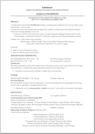 Resume Samples For Estheticians Templates Regarding Example Sample Esthetician