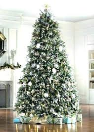 9 Ft Flocked Christmas Tree S Pencil Canada Foot Slim