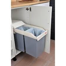 hailo poubelle cuisine poubelle de cuisine manuelle hailo plastique blanc crème 30 l