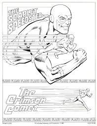 Jose Luis Garcia Lopez The Flash Comic Colouring Page