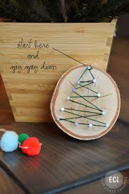 Handmade Christmas Ornaments String Art 5 Use A Drill Bit To Make Hole At The Top
