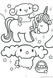 Foods Doodle Coloring Page Printable Cute Kawaii Pages Animals Free