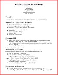 Advertising Asst Sample Resume Free