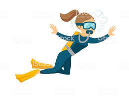 Royalty Free Woman Scuba Diver Clip Art Vector Images Rh Istockphoto Com