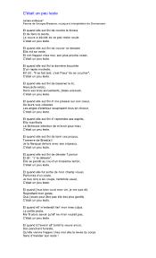 madame la marquise lyrics brassens