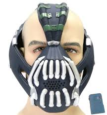 Halloween Voice Changer by Batman Bane Mask With Voice Changer Modulator Sliver Version