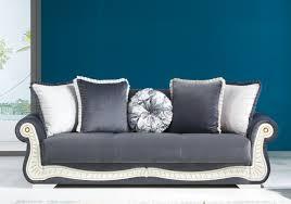 canapé velours gris canapé lit coffre velours gris barok et sobre