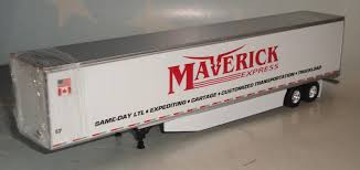 DCP MAVERICK TRUCKING SIDE SKIRTS DRY VAN TRAILER ONLY 1/64 DIECAST ...