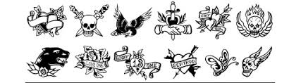 Tattoo Font 9 True Man Tattoos