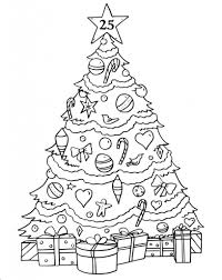 Christmas Tree Coloring Page Print Out by Advent Calendar Coloring Pages Getcoloringpages Com