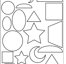 Coloring Pages For Shapes Of Toddlers Shape Sheets Simple