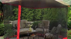 Mosquito Netting For 11 Patio Umbrella by Pergola Gazebo Mosquito Netting Amiable Sunjoy Gazebo